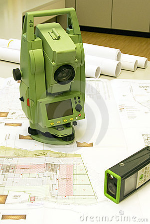 Free Land Surveying And Prism Royalty Free Stock Photo - 7180175