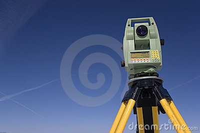 Land Surveying Under Blue Sky