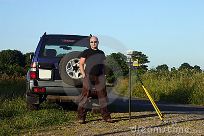 Land surveyor outdoors