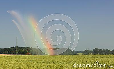 Landbouw regenboog