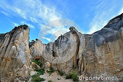 Landforms of decayed granite, Fujian, China