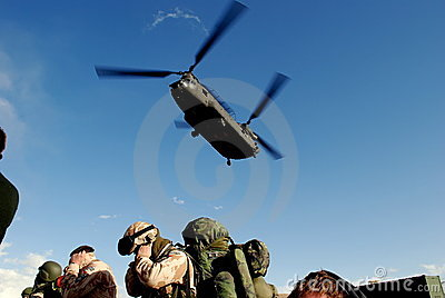 Landing Chinook Editorial Photo
