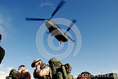 Landing Chinook Editorial Photo