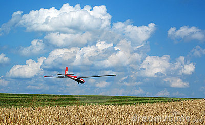 Landing glider
