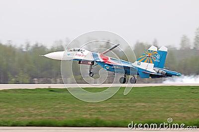 Landing SU-27 Editorial Image