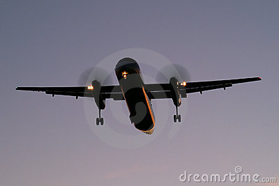 Landing after sunset