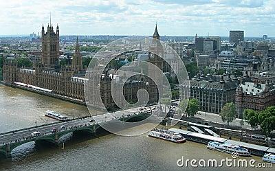 Landmark Aerial view of London, UK