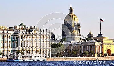 Landmark buildings St. Petersburg, Russia