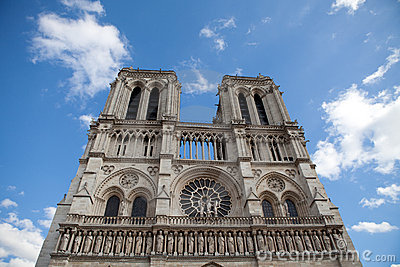 Landmark Gothic cathedral Notre-dame in Paris
