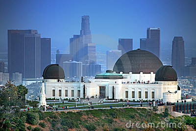 Landmark Griffith Observatory in Los Angeles Editorial Stock Image