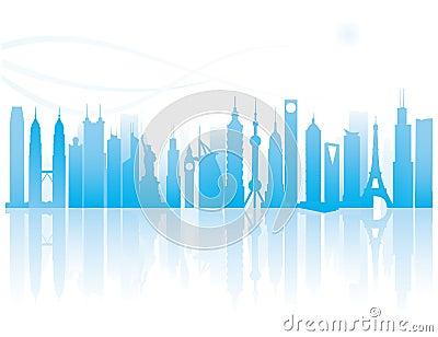 Landmark of modern city pattern