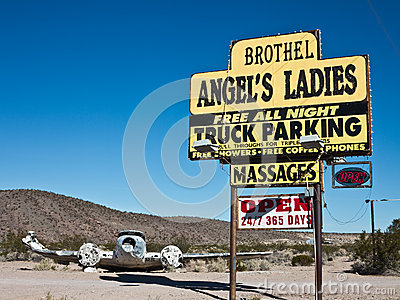 Landmark Nevada Brothel Editorial Stock Image