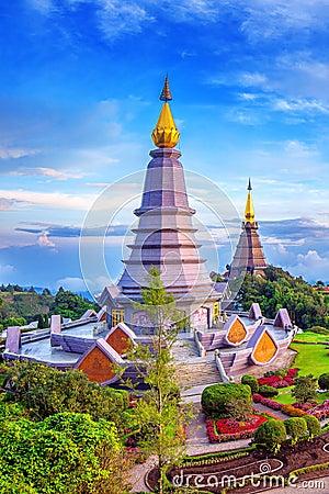 Free Landmark Pagoda In Doi Inthanon National Park At Chiang Mai, Tha Stock Photography - 90922172