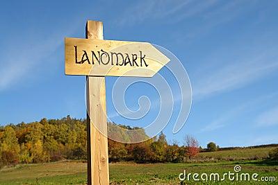 Landmark signpost