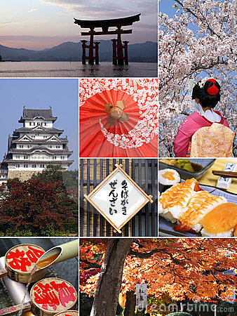 Free Landmarks And Collage Of Japan Royalty Free Stock Photo - 23778925
