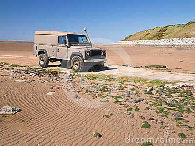Landrover on Beach