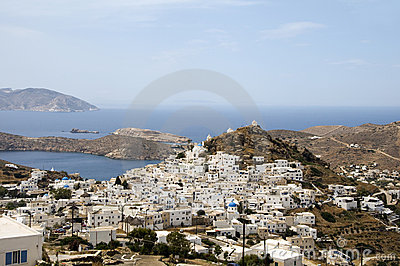 Landscape aegean sea Ios Cyclades