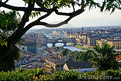 Landscape in Arno River