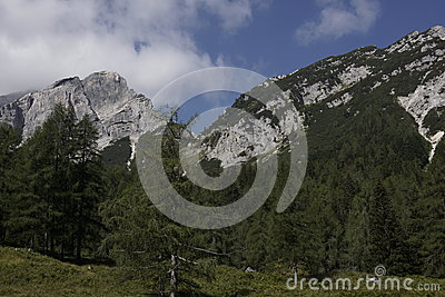 Landscape of the beautiful Julian Alps