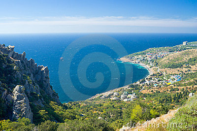 Landscape with Blue Bay near Simeiz town, Crimea
