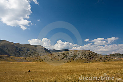 Landscape With Blue Dramatic Sky Stock Photography - Image: 17038792