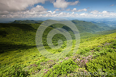 Landscape Blue Ridge Mountains Ridges Valleys NC