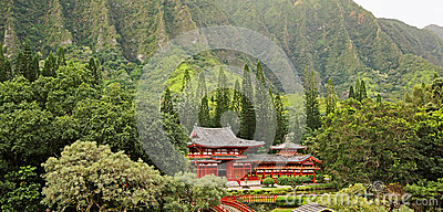 Landscape with Byodo-in Temple