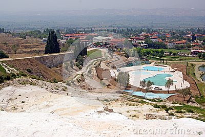 Landscape with calcium relief in pamukkale