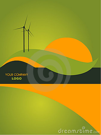 Landscape catalog flyer background
