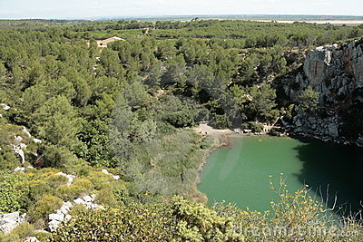 Landscape of the Clape,Languedoc
