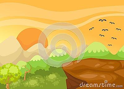 Landscape cliff in the jungle