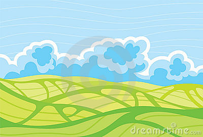 Landscape-and-cloudy-sky