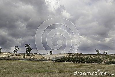 Landscape cloudy sky