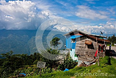 A landscape at Darjeeling Editorial Photo