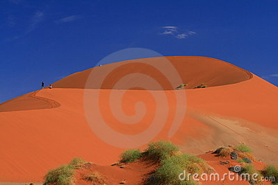 Namibian red dune landscape dream Editorial Stock Photo