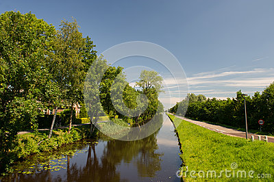 Landscape in Dutch Friesland