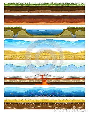 Free Landscape Earthy Slice Soil Section Mountains With Water Geological Land Underground Nature Cross Land Ground Vector Royalty Free Stock Photography - 102062407