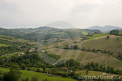 Landscape in Emilia-Romagna (Italy) at summer