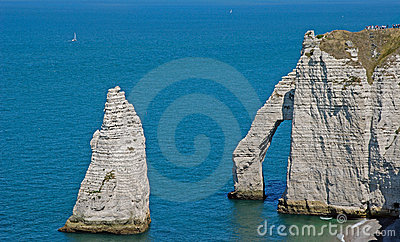 Landscape of Etretat and English Channel