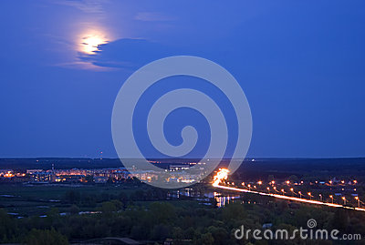 Landscape Evening Moon