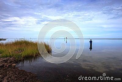 Landscape Fisherman Pamlico Sound Hatteras NC