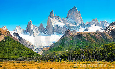 Landscape with Fitz Roy in Patagonia, Argentina