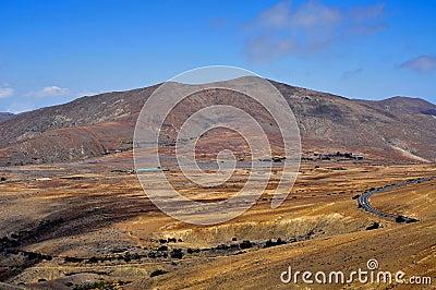 Landscape of Fuerteventura, Canary Islands, Spain