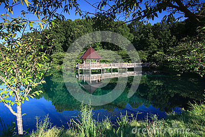 Landscape Gazebo Reflections Botanical Gardens VA