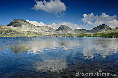 Landscape with glacial lake