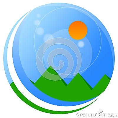 Landscape globe