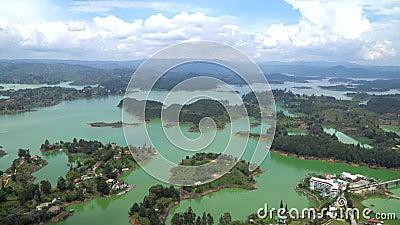 Landscape of Guatape, Antioquia Colombia.  stock video
