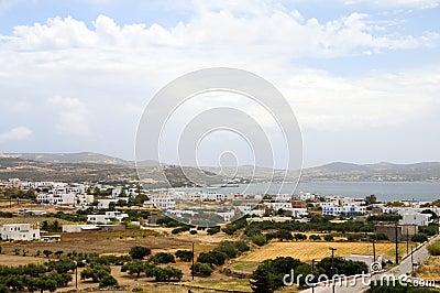 Landscape of harbor Adamas Milos