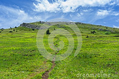 Landscape with hiking path
