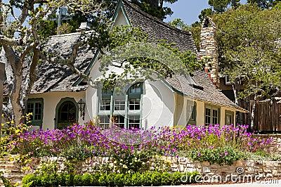 Landscape house flower garden